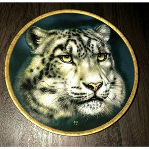 Collector Plate By Lenox 1993 Snow Leopards Big